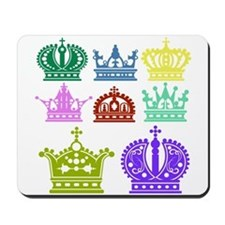 Colored Crown Silhouette Collection Mousepad