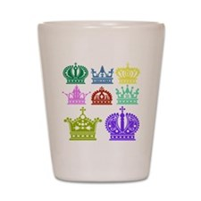 Colored Crown Silhouette Collection Shot Glass