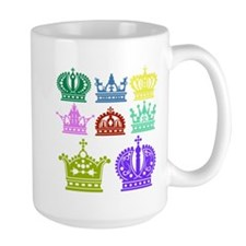 Colored Crown Silhouette Collection Mugs