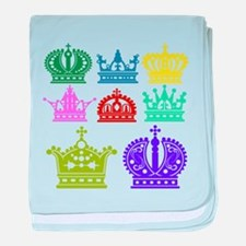 Colored Crown Silhouette Collection baby blanket