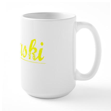 Pulaski, Yellow Large Mug