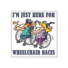 "wheelchair races Square Sticker 3"" x 3"""