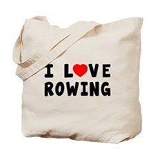 I Love Rowing Tote Bag