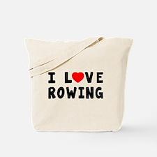 I Love Rowing Tote Bag