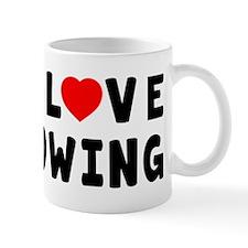 I Love Rowing Small Mug