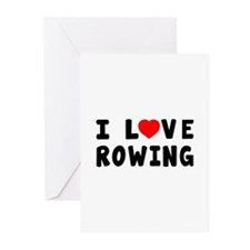 I Love Rowing Greeting Cards (Pk of 10)