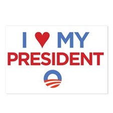 I Heart my President Postcards (Package of 8)
