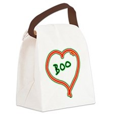 i love boo heart Canvas Lunch Bag