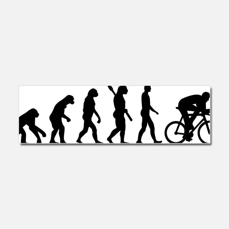Evolution cycling Car Magnet 10 x 3