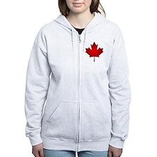 Maple Leaf Grunge Zip Hoodie