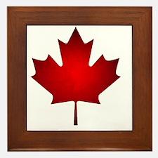 Maple Leaf Grunge Framed Tile