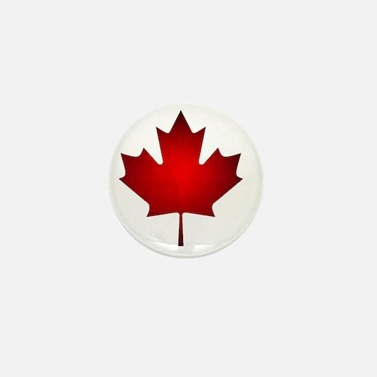 Maple Leaf Grunge Mini Button