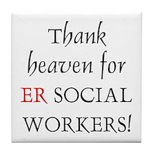 Thank Heaven ER BRT Tile Coaster