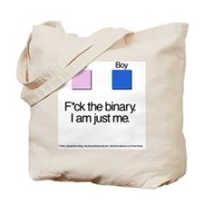 Binary + Text Tote Bag