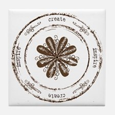 create, inspire Tile Coaster