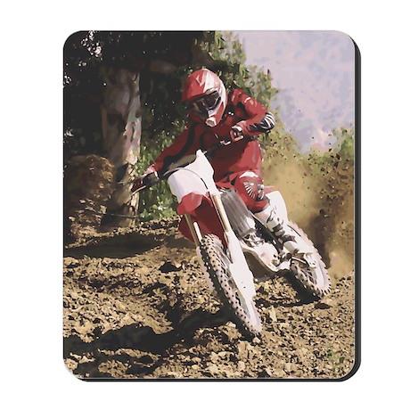 Motocross Rider Sprays Rocks Mousepad
