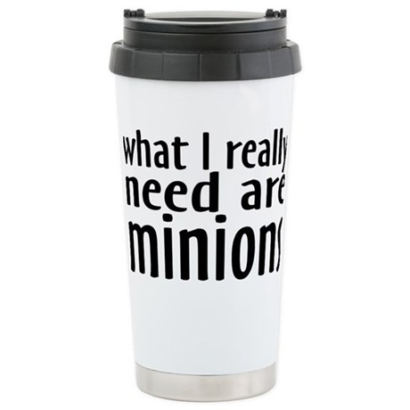 minionsrectangle Stainless Steel Travel Mug