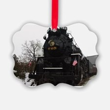 Steam Engine Christmas - Cover Ornament