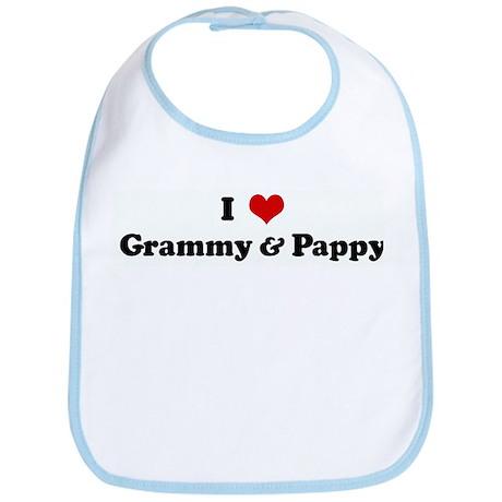 I Love Grammy & Pappy Bib