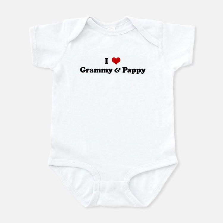 I Love Grammy & Pappy Infant Bodysuit