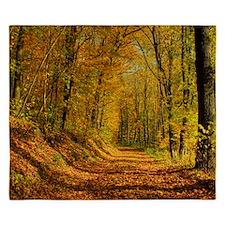 Autumn Forest Trail King Duvet