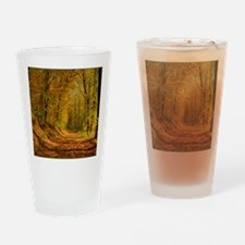 Autumn Forest Trail Drinking Glass