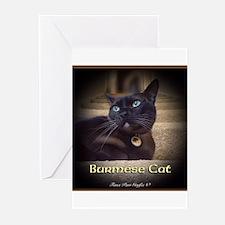Burmese Cat (FancieR) Greeting Cards (Pk of 10)