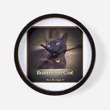 Burmese Cat (FancieR) Wall Clock