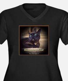 Burmese Cat (FancieR) Women's Plus Size V-Neck Dar