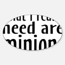minions Sticker (Oval)