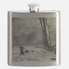 Fly Fisherman in Misty Stream Flask