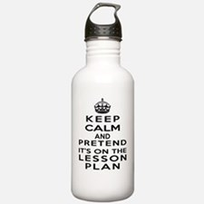 Keep Calm Lesson Plan Water Bottle