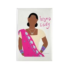 Brown Lady Indian Rectangle Magnet