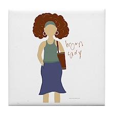 """Brown Lady """"Jenn-Jenny"""" Tile Coaster"""