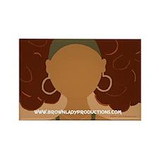 """Brown Lady """"Jenn-Jenny"""" Rectangle Magnet"""