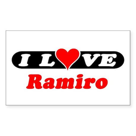 I Love Ramiro Rectangle Sticker