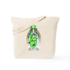 Border Collie Leprechaun Tote Bag