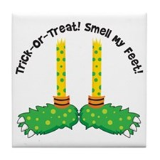Trick or Treat Smell my Feet Tile Coaster