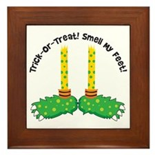 Trick or Treat Smell my Feet Framed Tile