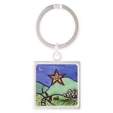 Star City with frame Square Keychain
