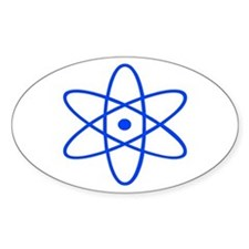 Bohr's Model of the Atom Oval Decal