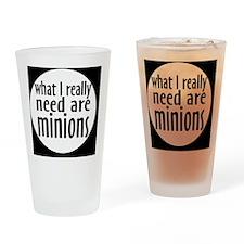 minionsbutton Drinking Glass