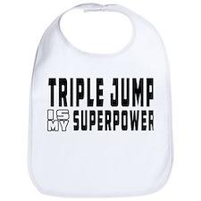 Triple Jump Is My Superpower Bib