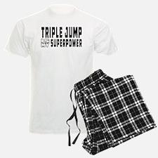 Triple Jump Is My Superpower Pajamas
