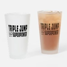 Triple Jump Is My Superpower Drinking Glass