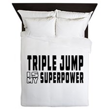 Triple Jump Is My Superpower Queen Duvet