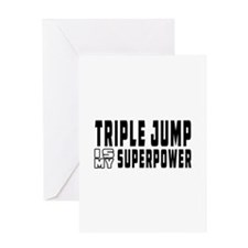 Triple Jump Is My Superpower Greeting Card