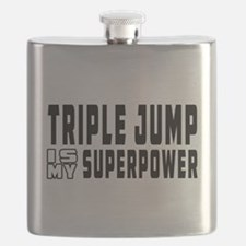 Triple Jump Is My Superpower Flask