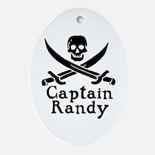 Captain Randy Ornament (Oval)