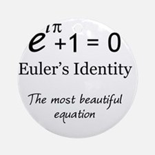 Beautiful Eulers Identity Round Ornament